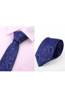 Purple Paisley Microfiber Necktie