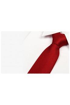Red Plaid Microfiber Necktie
