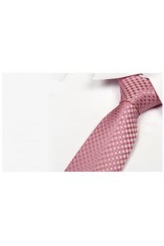 Pink Polka Dot Microfiber Necktie