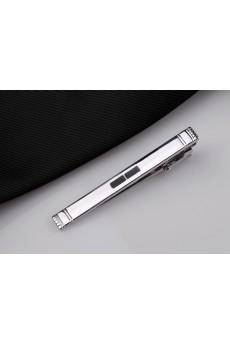 Silver Metal Tie Bar