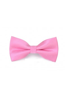 Pink Polka Dot Microfiber Bow Tie