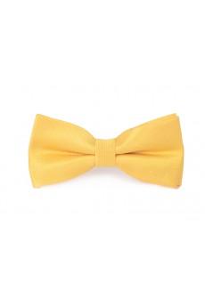 Gold Polka Dot Microfiber Bow Tie