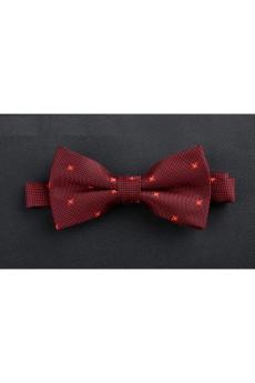 Red Polka Dot Microfiber Bow Tie