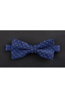 Blue Floral Microfiber Bow Tie
