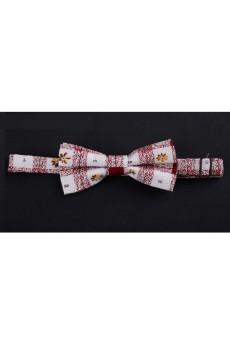 Pink Floral Microfiber Bow Tie
