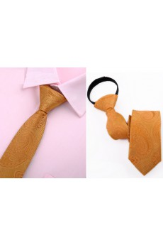 Yellow Floral Microfiber Skinny Ties
