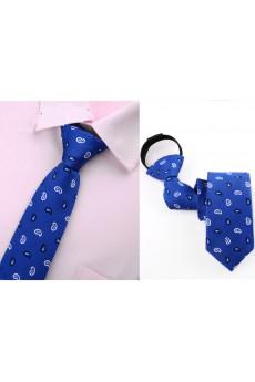 Blue Paisley Microfiber Skinny Ties