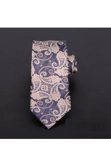Brown Floral Microfiber Novelty Tie