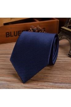 Blue Checkered Emulation Silk NeckTie