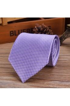 Purple Paisley Emulation Silk NeckTie