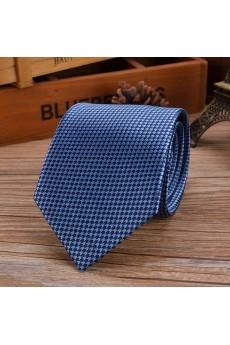 Blue Paisley Emulation Silk NeckTie