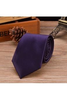Purple Solid Emulation Silk NeckTie