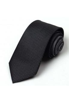 Black Paisley 100% Silk NeckTie