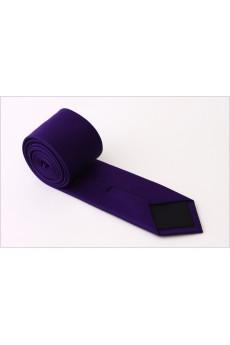 Purple Solid Microfiber NeckTie