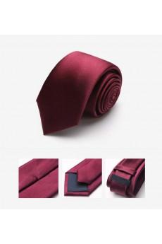 Red Solid 100% Silk NeckTie