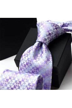 Purple Floral Polyester NeckTie