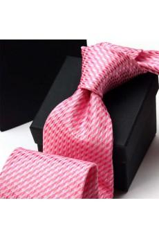 Pink Floral Polyester NeckTie