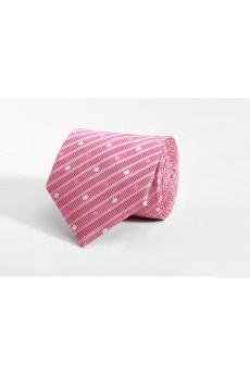 Pink Polka Dot 100% Silk NeckTie