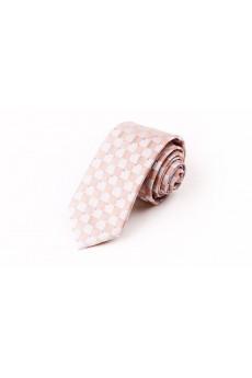 Pink Checkered Microfiber NeckTie