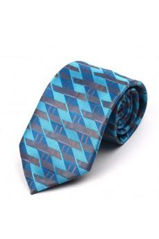 Blue Floral Polyester NeckTie