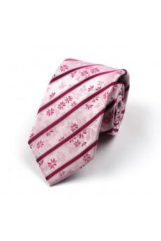Pink Floral 100% Silk NeckTie