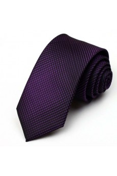 Purple Polka Dot Microfiber NeckTie
