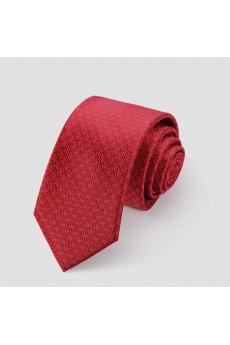 Red Floral Microfiber NeckTie