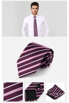 Red Striped Cotton & Polyester NeckTie