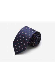 Blue Floral Microfiber Skinny Tie