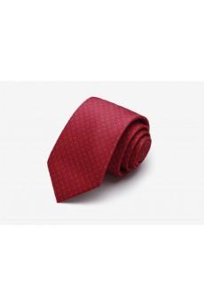 Red Floral Microfiber Skinny Tie