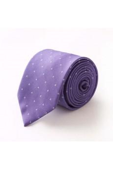 Purple Polka Dot Microfiber Skinny Tie