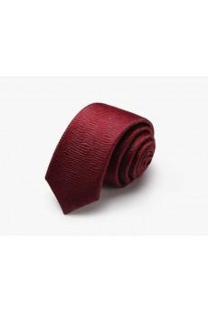 Red Floral 100% Silk Skinny Tie