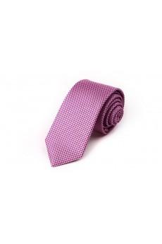 Pink Floral Microfiber Skinny Tie