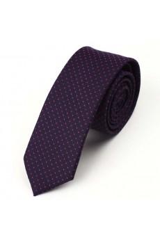 Black Polka Dot Microfiber Skinny Tie