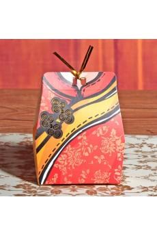 Metallic Twist Tie Wire Red Color Clothes WeddingFavor Boxes (12 Pieces/Set)