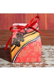 Exquisite Red Color Clothes Wedding Favor Boxes (12 Pieces/Set)