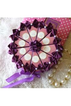 Unique Wedding Favor Boxes with Flowers Ribbons Bowknots Online (10 Pieces/Set)