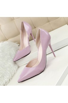 Women's Light Purple Stiletto Heel Party Shoes (High Heel)