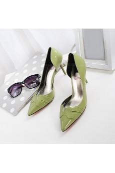 Women's Apple Green Stiletto Heel Party Shoes (Mid Heel)
