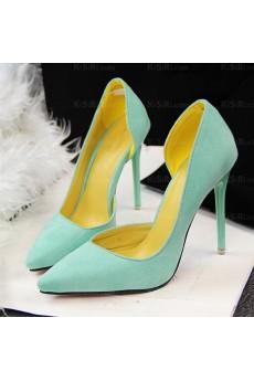 Best Light Green Stiletto Heel Prom Shoes (High Heel)