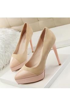 Best Light Pink Stiletto Heel Prom Shoes (High Heel)