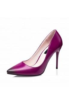 Ladies Best Purple Pointed Toe Stiletto Heel Prom Shoes (High Heel)