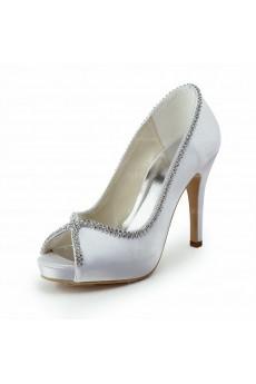The Best Ivory White Wedding Bridal Shoes with Rhinestone