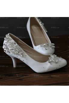 Best White Wedding Bridal Shoes with Rhinestone
