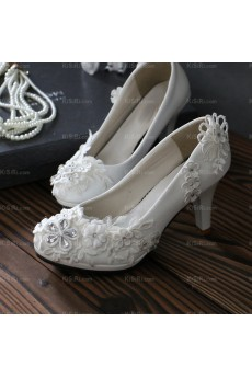 Elegant Lace Bridal Wedding Shoes with Rhinestone
