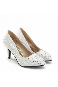 Elegant Wedding Bridal Shoes with Rhinestone
